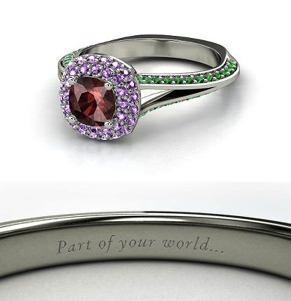 rings inspired by disney princesses - Disney Inspired Wedding Rings