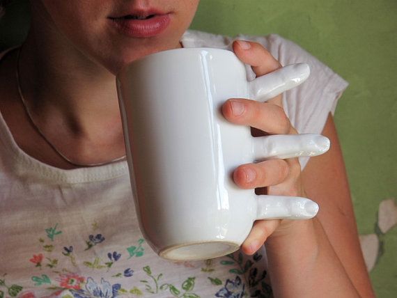 The Finger Coffee Mug Has No Handle