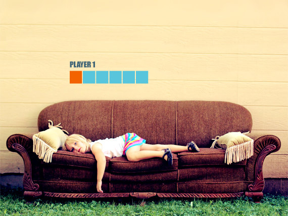 Ready? Sit! Couch Fighter Wall Decal