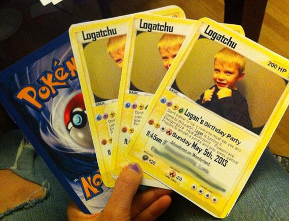 Pokemon Card Party Invitations