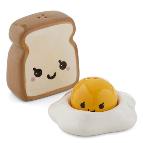 Toast Eggs Salt Pepper Shaker Incredible Things