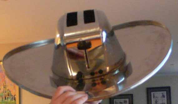 Cowboy Hat Made Out Of A Toaster