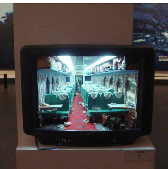 Recycled TVs Made Into Mini Dioramas