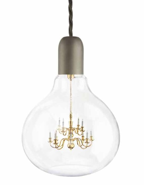 Fancy A Chandelier Inside A Light Bulb