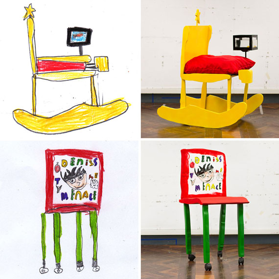 Kids 39 drawings made into real furniture incredible things for Child chair design