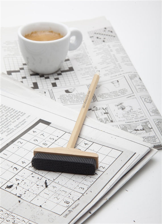 A Pencil With A Broom-Like Eraser