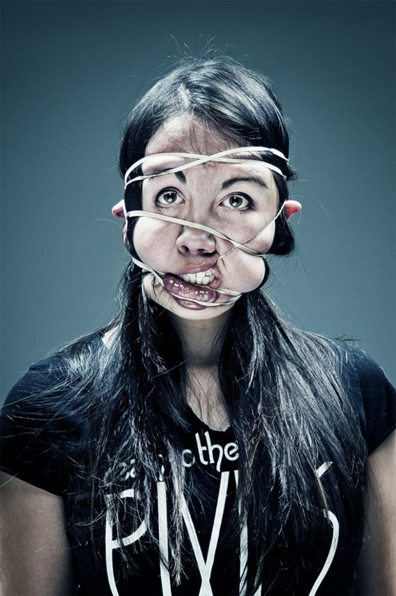 Cannot Unsee: Rubber Band Portraits