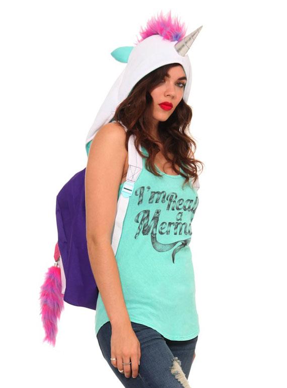Magical Unicorn Hoodie Backpack