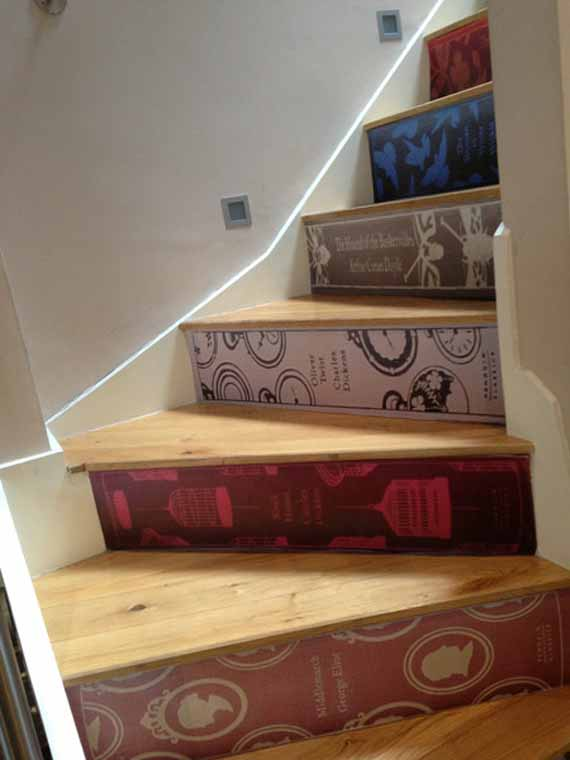 Decals Turn Your Stairs Into Books