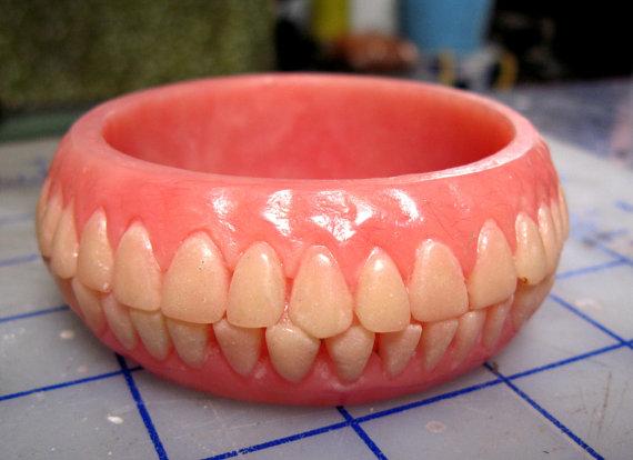 Fashionably Morbid: Denture Jewelry