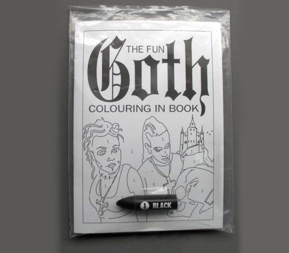 The Goth Coloring Book Incredible Things