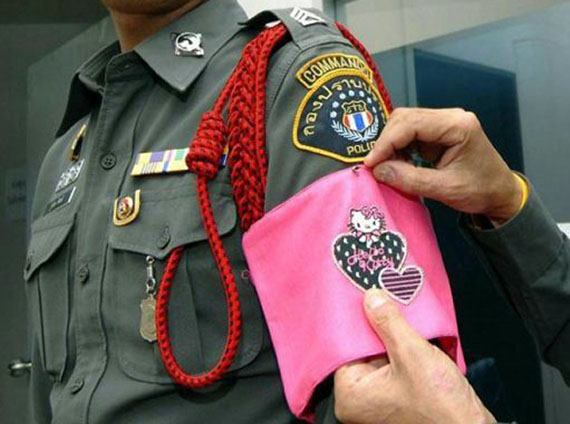 Hello Kitty Punishment For Thai Police