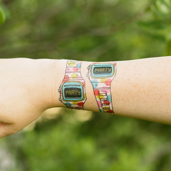 Party Time Watch Tattoo
