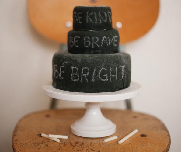 Edible Chalkboard Cake and Chalk