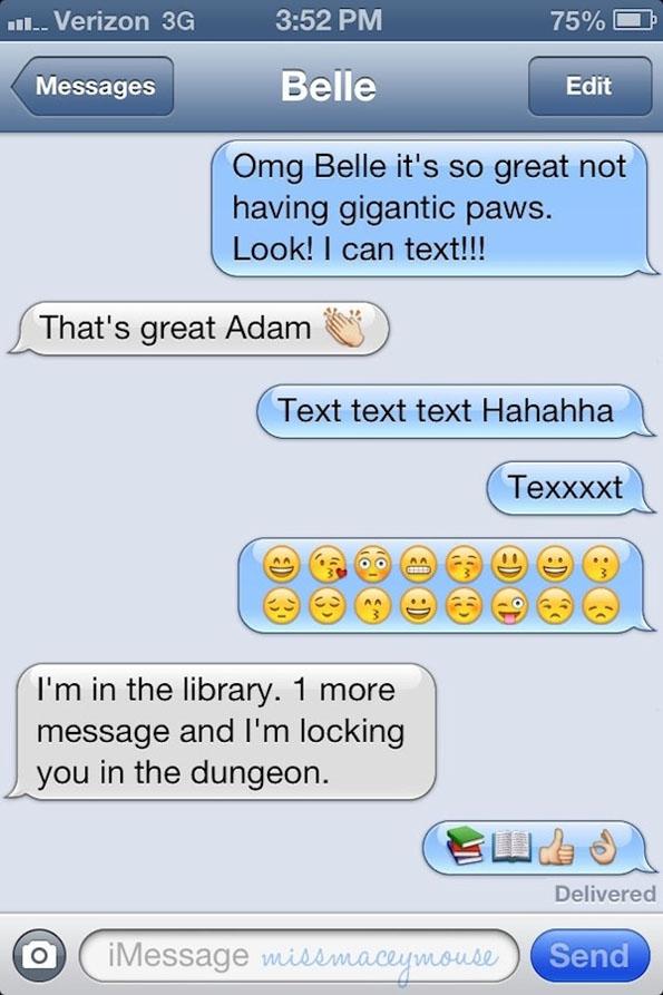 Texting Disney Princesses