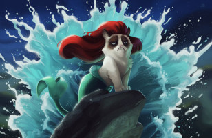 Grumpy Cat Meets Disney Movies