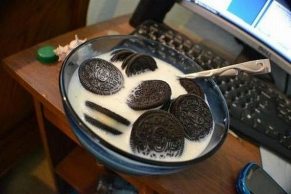 Image result for oreos in milk