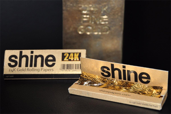 Shine 24k Gold Rolling Papers Incredible Things