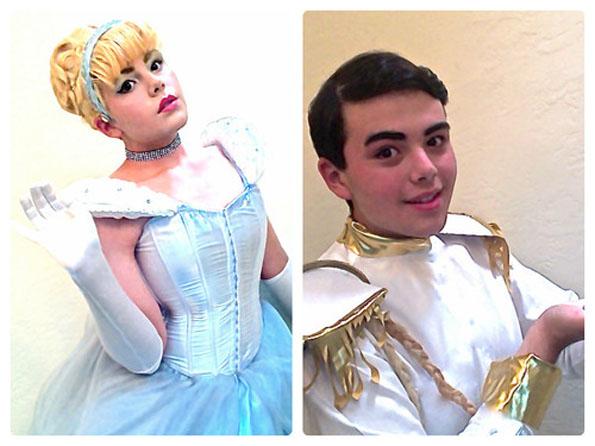 Man Dresses Up As Disney Princes & Princesses