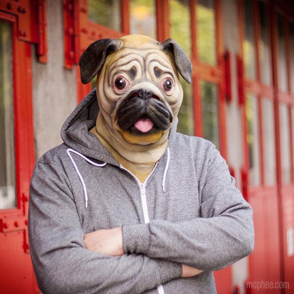 Creepy Dog Mask