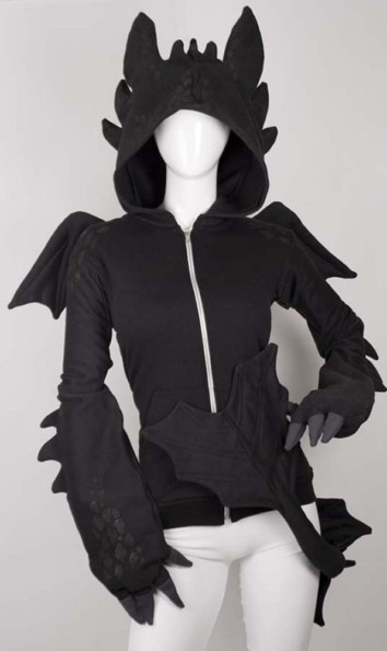 Dragon Hoodie With Detachable Tail