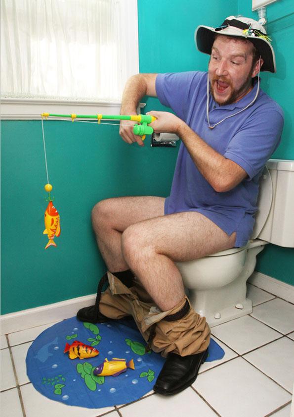Hook, Line, & Stinker Bathroom Fishing Game