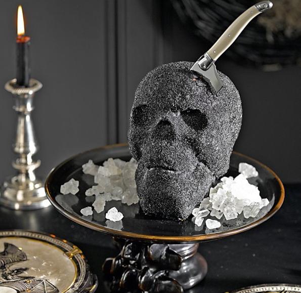 No Body Can Deny A Slice Of Skull Cake