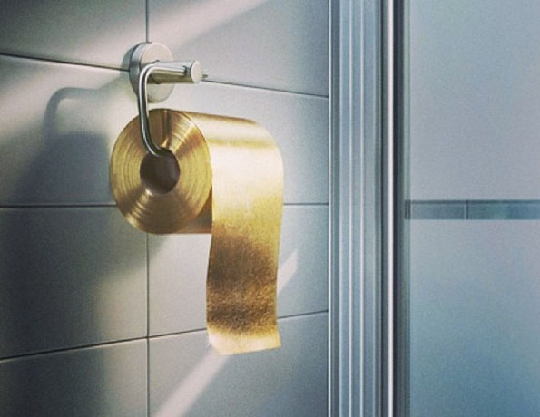 Million Gold Toilet Paper Incredible Things - Gold flake toilet paper