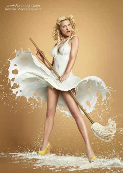 Pin Ups 'Wearing' Nothing But Milk