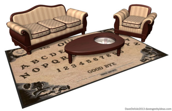 The Ouija Board Coffee Table & Rug Is Probably Haunted