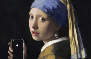 Famous Paintings Updated with iPhones and Junk