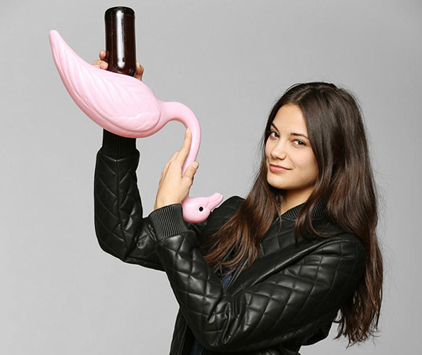 This Flamingo Wants You To Bury Your Head In The Toilet
