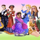 Female Role Models Done Up Like Disney Princesses