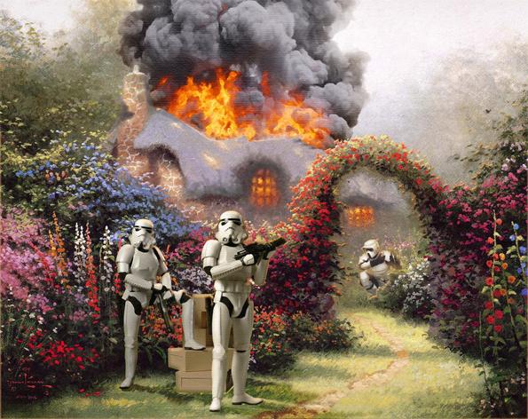 Star Wars Invades Thomas Kinkade Paintings