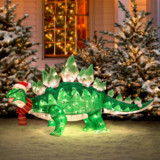 Dinosaur Christmas Lawn Decoration