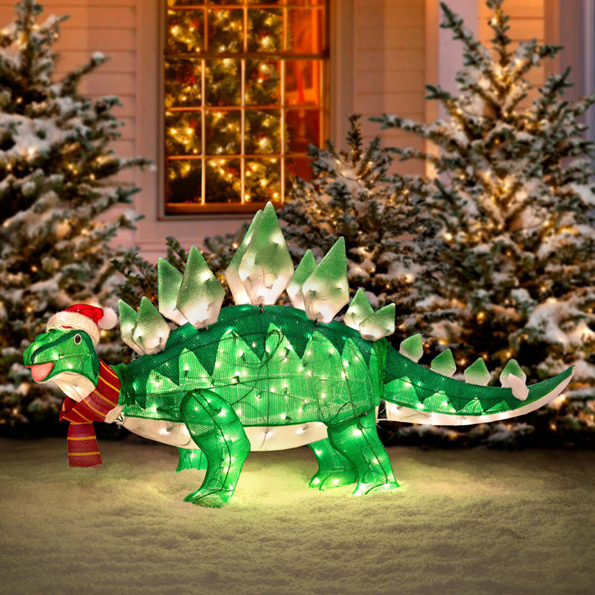 Dino xmas lawn decoration incredible things for Holiday lawn decorations