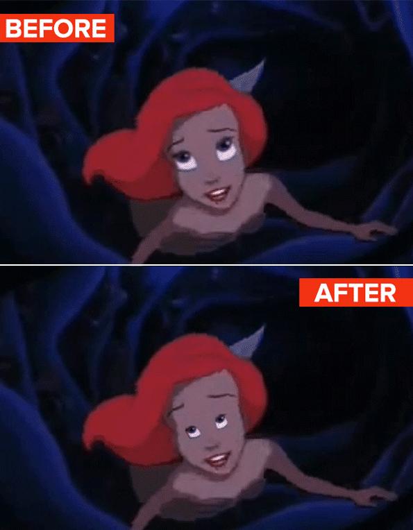 If Disney Princesses Had Regular-Size Eyes