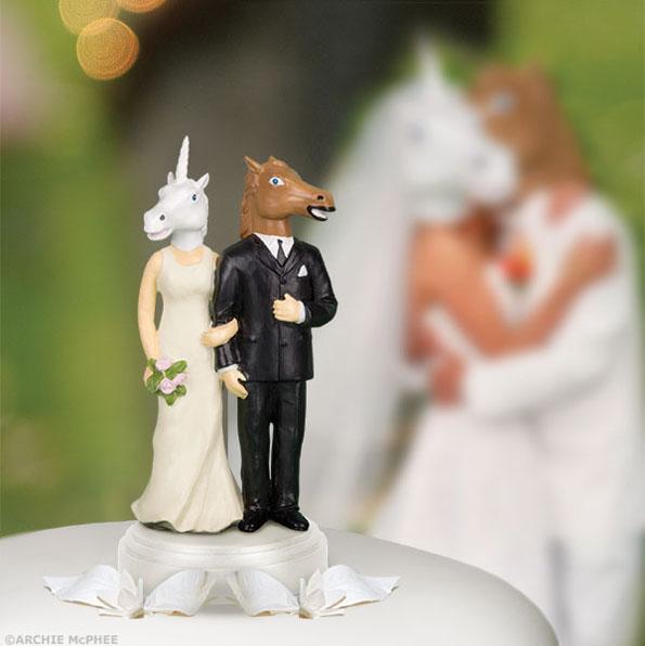 Unicorn/Horse Wedding Cake Topper