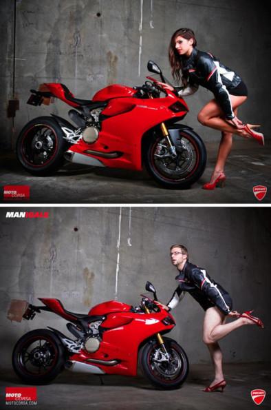 Real Men Pose As Motorcycle Models