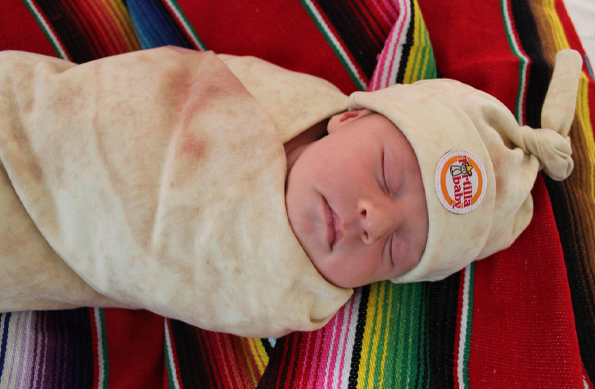 Make Baby Burritos with the Tortilla Swaddle Blanket