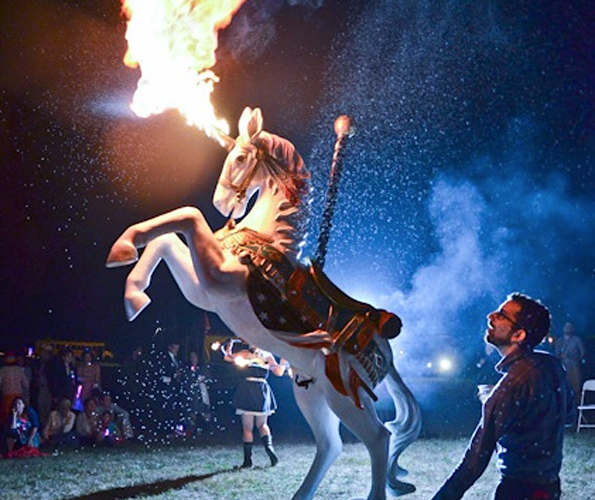 This Wedding Had a Unicorn That Shoots Flames and Pees Lemonade