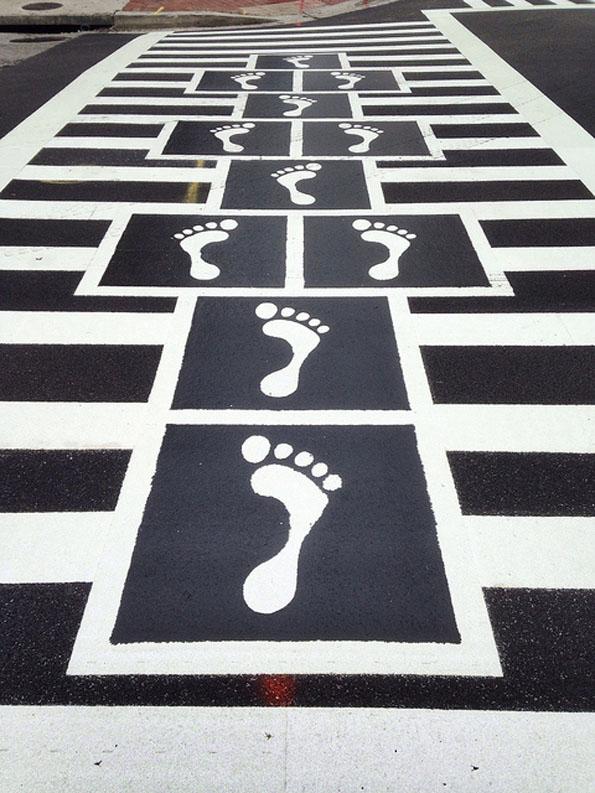 A Hopscotch Crosswalk
