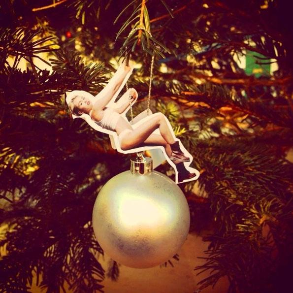 DIY Miley Cyrus Wrecking Ball Ornament