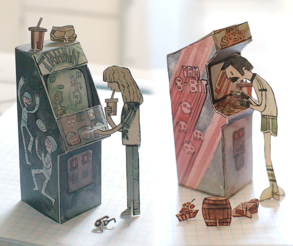 Are Your Paper Dolls Bored? Build Them an Arcade!