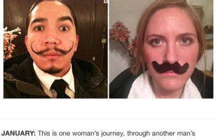Girl Recreates Stranger's Selfies