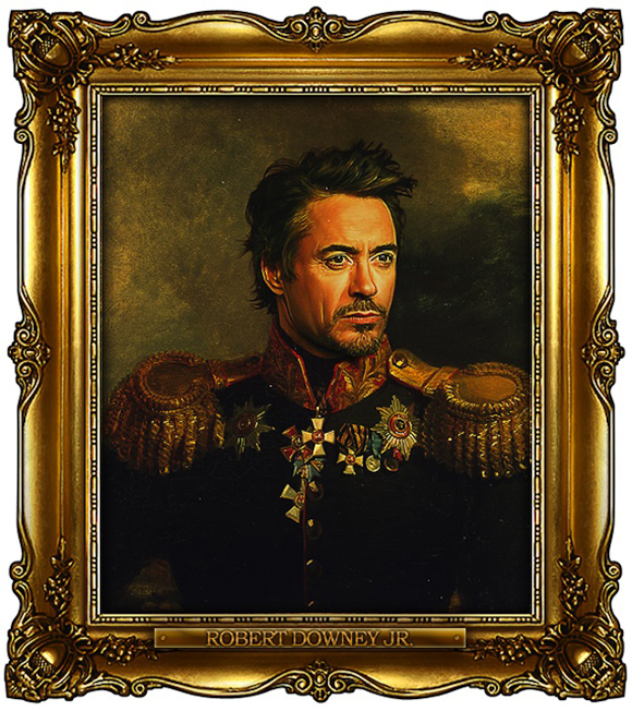 Celebrities Star In ThCentury Military Portraits Incredible - If celebrities were 19th century military generals they would look like this