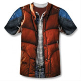 Marty McFly's Outfit Printed On A T-Shirt
