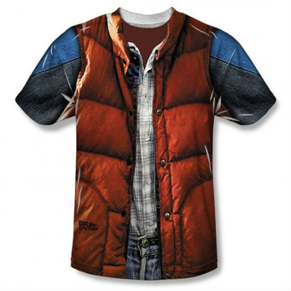 Marty McFly's Outfit On A T-Shirt