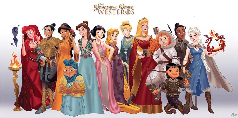 Disney Princesses Do Game of Thrones