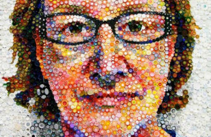 Amazing Bottle Cap Self Portait